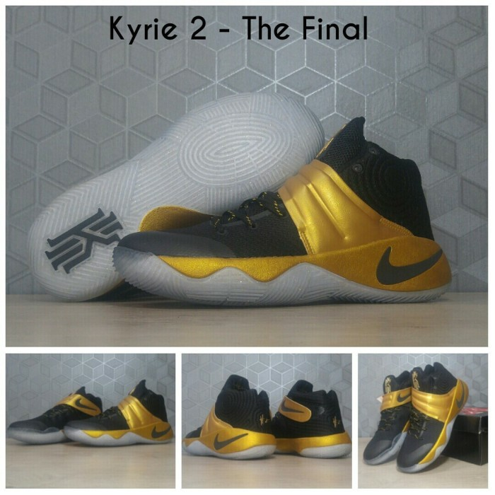 hot sales bf59f afc20 Jual KYRIE 2 THE FINAL / KYRIE 2 BLACK GOLD / KYRIE IRVING SHOES -  ALLINSHOP-ID   Tokopedia
