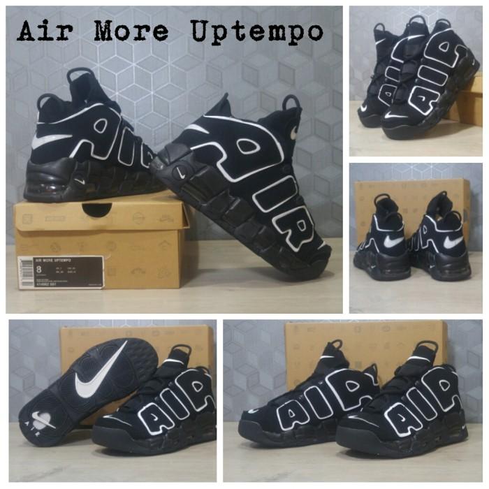 harga Sepatu basket sneaker nike air more uptempo - black  (airmore) Tokopedia.com
