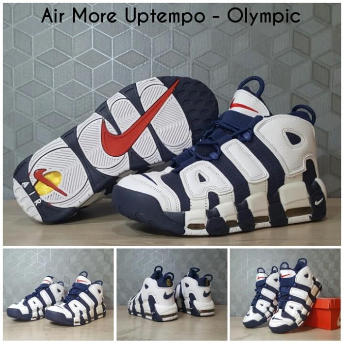 harga Sepatu basket sneaker nike air more uptempo - olympic (blue) airmore Tokopedia.com
