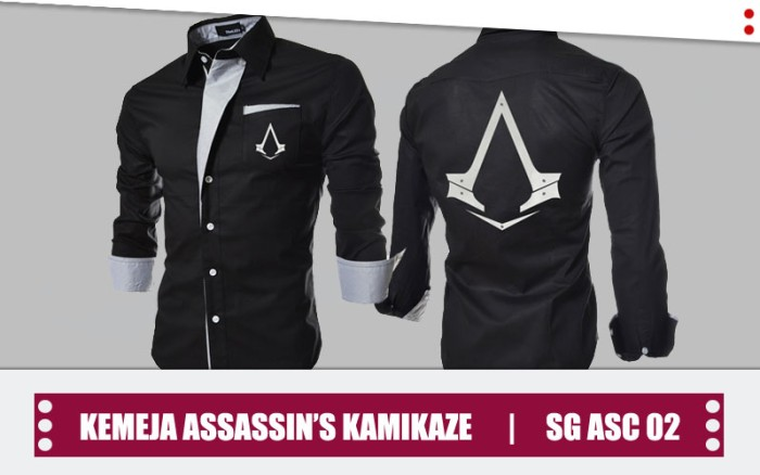 Jual Baju Kemeja Assassins Creed Kamikaze Korean Style Sg Asc 02