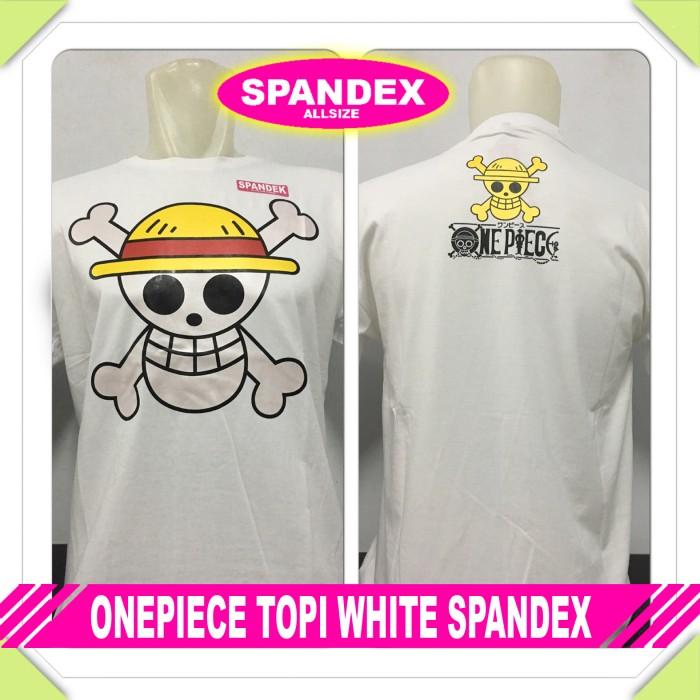 harga Murah baju kaos distro anime/kartun one piece topi white spandex zoro Tokopedia.com