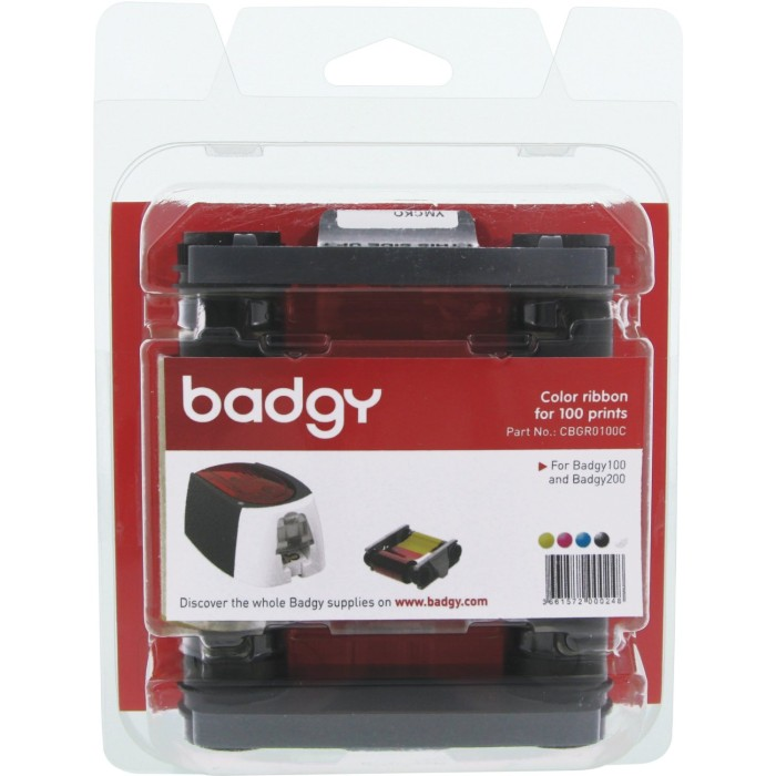 harga Ribbon ymcko id card printer badgy 100 Tokopedia.com