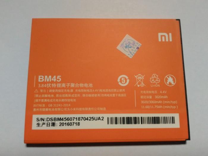 harga Baterai batrai batray battery batre xiaomi redmi note 2/prime ori bm45 Tokopedia.com