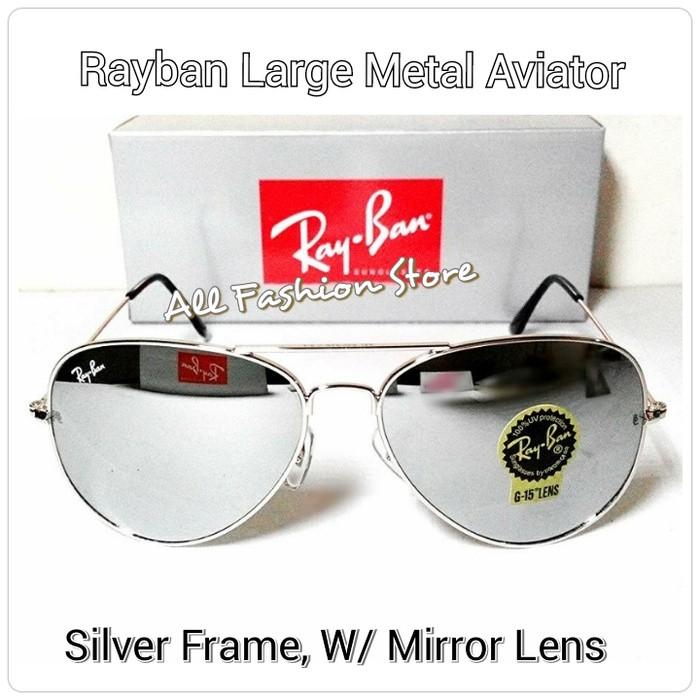 Jual Kacamata Ray B Aviator 3026 Silver Mirror Lens (Kaca) - All ... 0c39500c5a