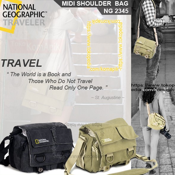 Tas Kamera Selempang DSLR National Geographic Canvas Bag - NG2345