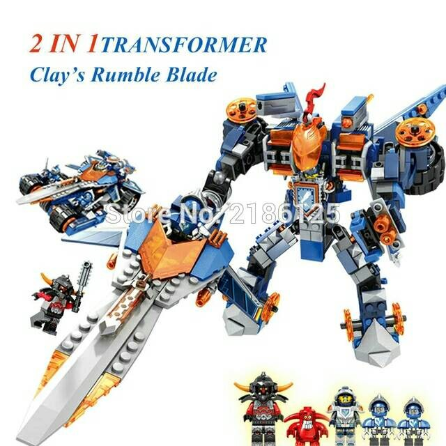 Lego SY 566 Nexo Knights 2in1-Clay's Rumble blade )