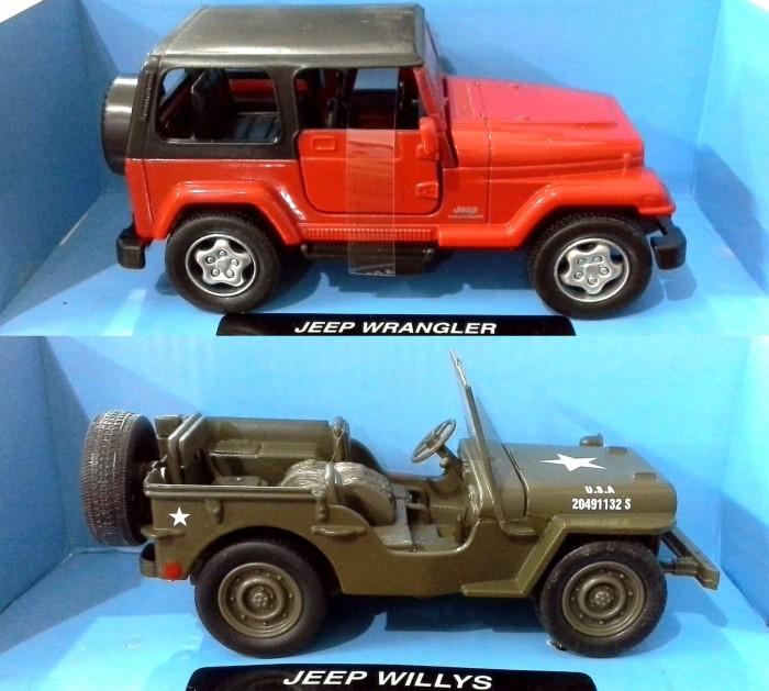 harga Diecast newray 1:32 jeep wrangler - jeep willys Tokopedia.com