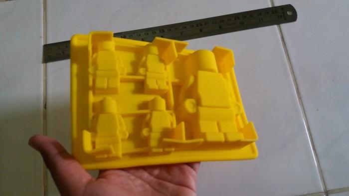Cetakan coklat puding robot lego