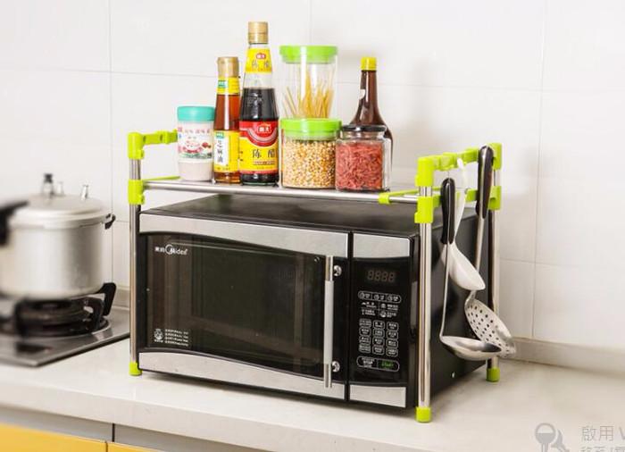 Rak Susun Mikrowave Plastik Stainless Untuk Di Dapur Multi Fungsi