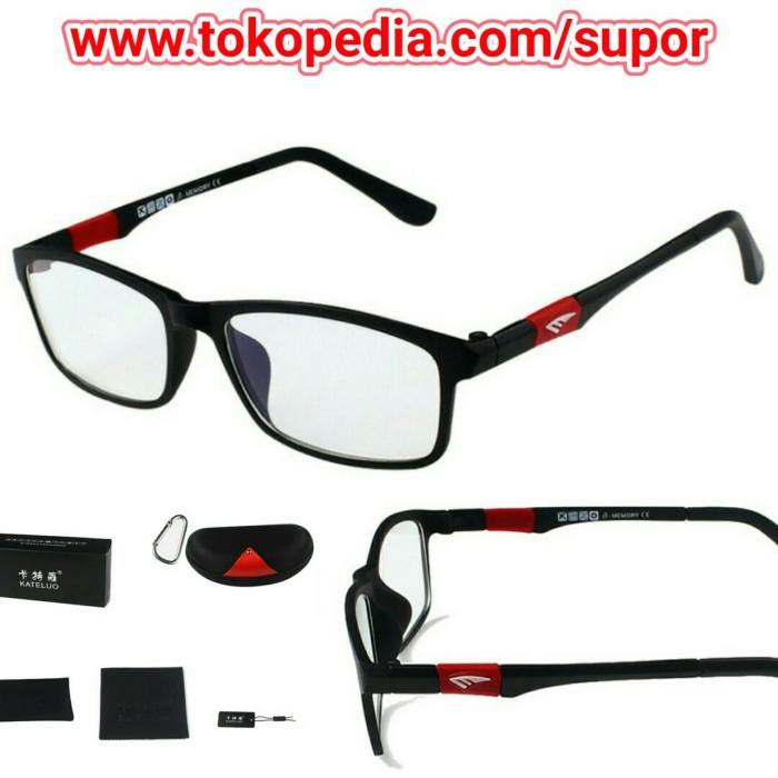 Kacamata Korea anti radiasi komputer HP TV UV kaca mata antiradiasi - Merah 97b02aed4a
