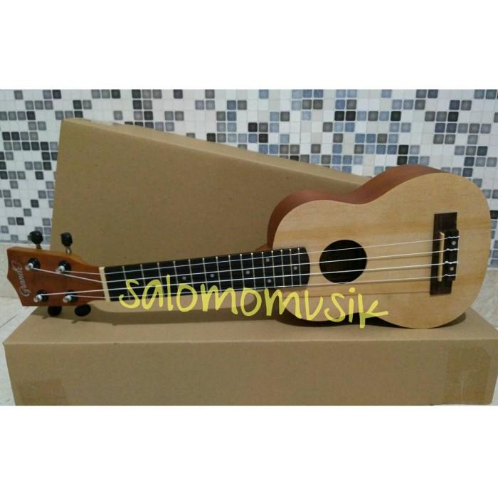 harga Ready ukulele / okulele / uke soprano 21' grande natural + tas Tokopedia.com