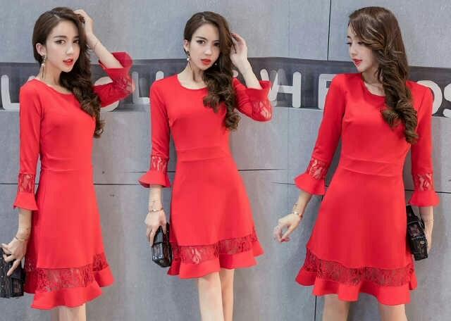 harga Dress pendek/ mini dress red hot mix brokat chic girl Tokopedia.com