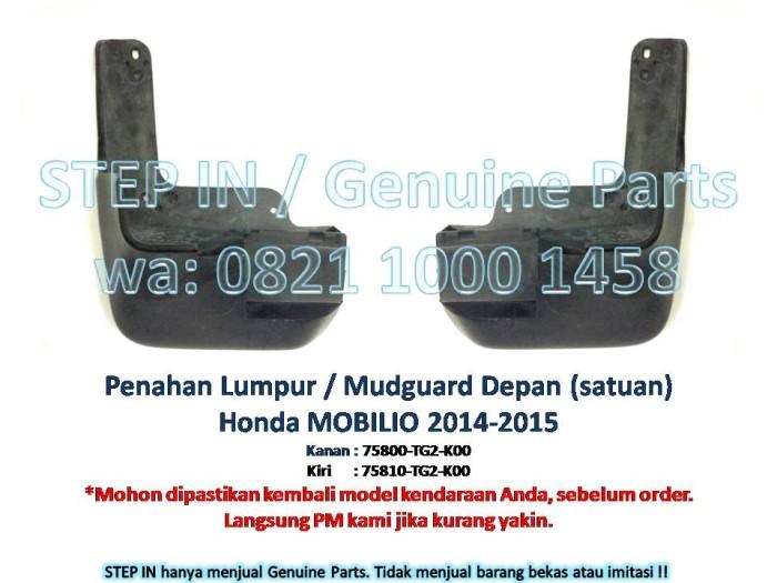 harga Penahan lumpur depan mudguard honda mobilio 14-15  mud flap guard asli Tokopedia.com
