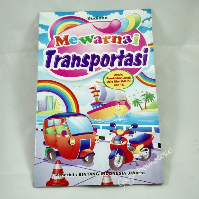 Jual Buku Mewarnai Transportasi Paud Tk Kecil G B Tokopedia