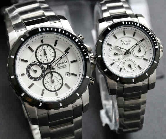 harga Jam tangan couple alexandre christie ac 6141-ac 6141 black silver Tokopedia.com