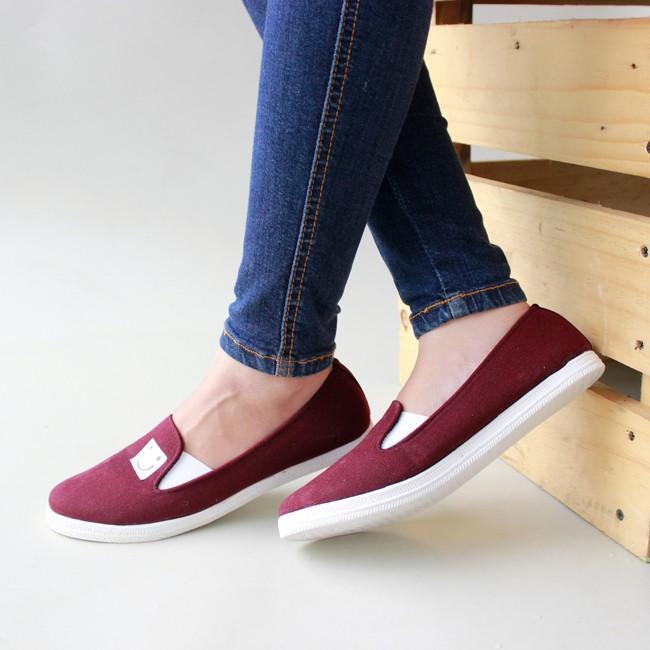 Pertanyaan Harga Sepatu Kets Wanita Sneaker Sport Spon Fashion Source · SEPATU KETS SLIP ON SMILE