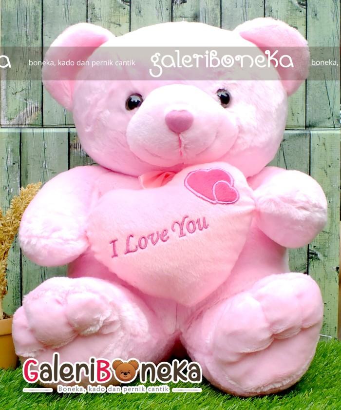 Jual Boneka Teddy Bear Love Pink Ukaran Besar ( BT - 324253 ... b9ab0bb201