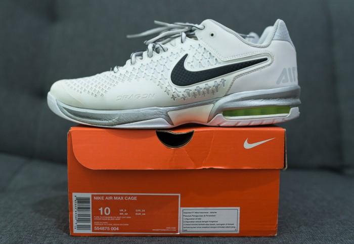 buy popular ddb81 5ade1 Sepatu Tennis Nike Air Max Cage Del Potro Wimbledon size 44 ...