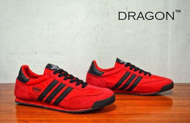 Jual SEPATU PRIA ADIDAS DRAGON RED LIS BLACK ORIGINAL PREMIUM ... 3f08e9656