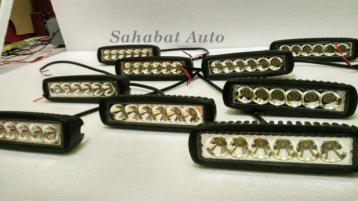 harga Led bar offroad drl off road work light mobil dan motor 6x3w Tokopedia.com
