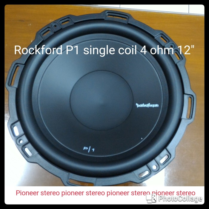 harga Rockford subwoofer single coil 12  p1 s4 ohm 250w rms 500w Tokopedia.com