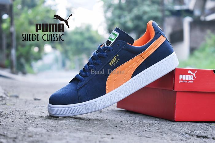 harga Sepatu puma suede classic import / navy orange / casual kets pria Tokopedia.com