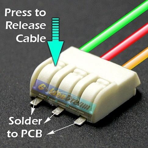 Foto Produk Mini SMD Terminal Block 3 Lobang Wire to Board Soldering Cable to PCB dari VISITEK