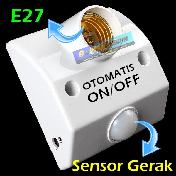harga Fitting lampu otomatis sensor gerak + delay motion light holder e27 Tokopedia.com