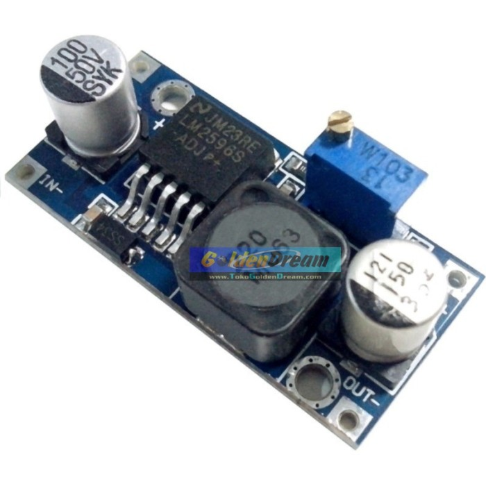 Foto Produk LM2596 adjustable DC-DC step down input 3-40V output 1.5-35V dari VISITEK