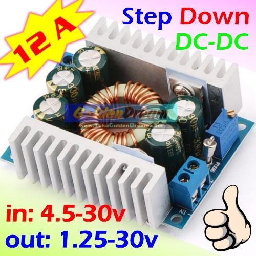 Foto Produk Step Down 12A 4.5-30v to 1.25-30v DC Buck Power Penurun Tegangan Volt dari VISITEK