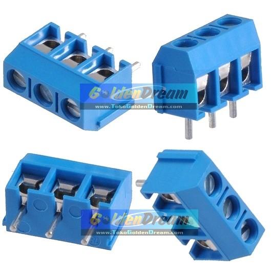 Foto Produk Terminal Block 3 Pin Skrup Screw PCB Blok 3P Pitch 5mm Cable Connector dari VISITEK