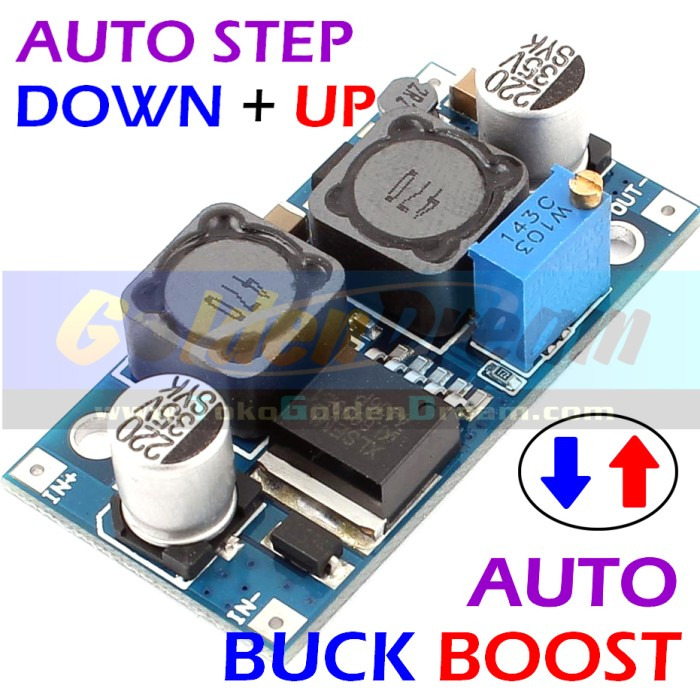 Foto Produk Auto Buck Boost Step Down + Up XL6009 Adjustable Converter Solar Aki dari VISITEK