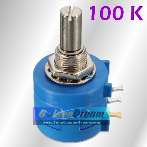 Foto Produk Bourns Potensiometer 100K Wirewound Multiturn Adjustable Rotary Pots dari VISITEK