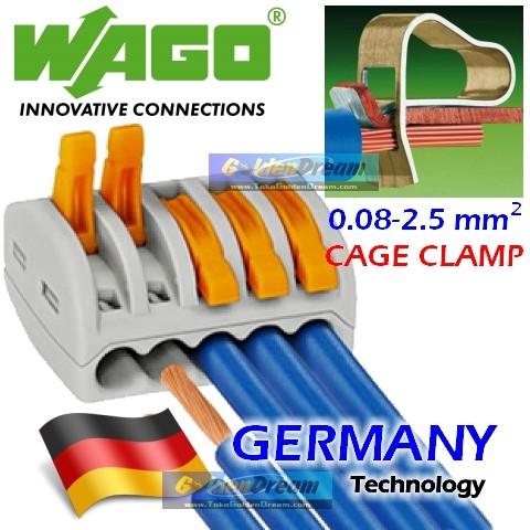 Foto Produk WAGO Connector 5 Wire 222-415 Compact Terminal Block Lever Cage Clamp dari VISITEK