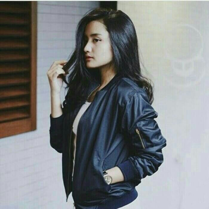 Jual jaket wanita semi kulit jaket bomber wanita jaket casual - sist ... 410874a25e