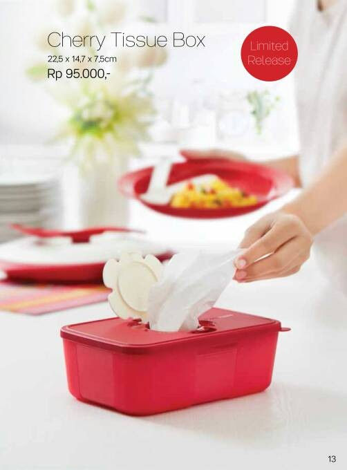cherry tissue box Tupperware