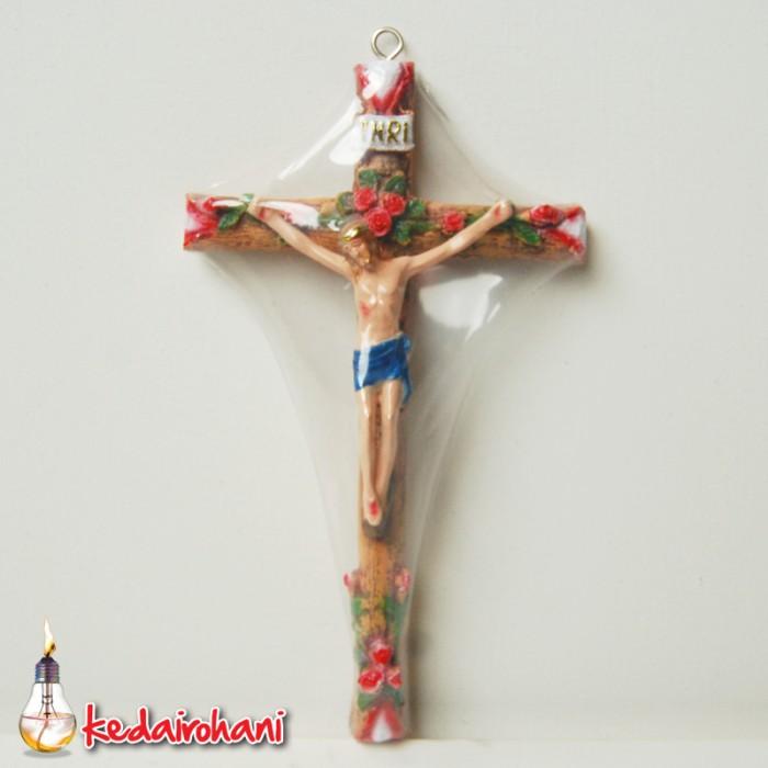 harga Patung salib mawar diinding/gantung -hadiah/souvenir/hiasan/arca fiber Tokopedia.com