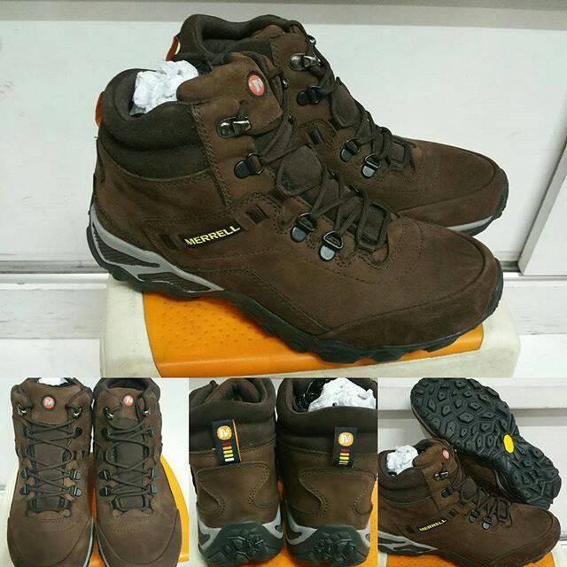 ... harga Sepatu gunung hiking merrell continuum outland mid vibram brown  Tokopedia.com 31eae91b03