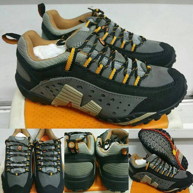 ... harga Sepatu gunung hiking merrell continuum intercept vibram grey  Tokopedia.com f7bf1a8c59