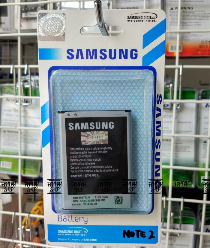 harga Baterai handphone samsung galaxy note 2 original oem | battery n7108 Tokopedia.com
