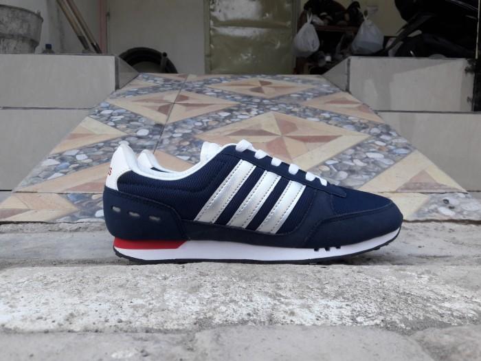 Jual Sepatu Adidas Neo City Race Navy 100% Original harga promo ... 7444984deb