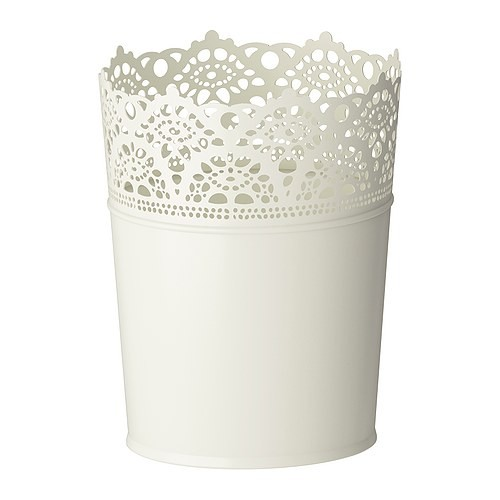 Ikea skurar pot tanaman putih pudar dalam/luar ruang 105cm