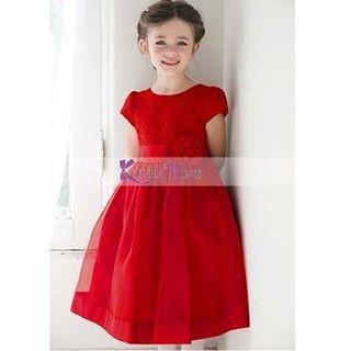 harga Dress brukat anak / gaun pesta brukat anak impor gd2682 Tokopedia.com