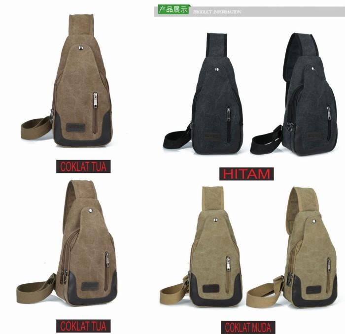 harga Tas kanvas bodypack import / slingbag canvas pria impor murah Tokopedia.com