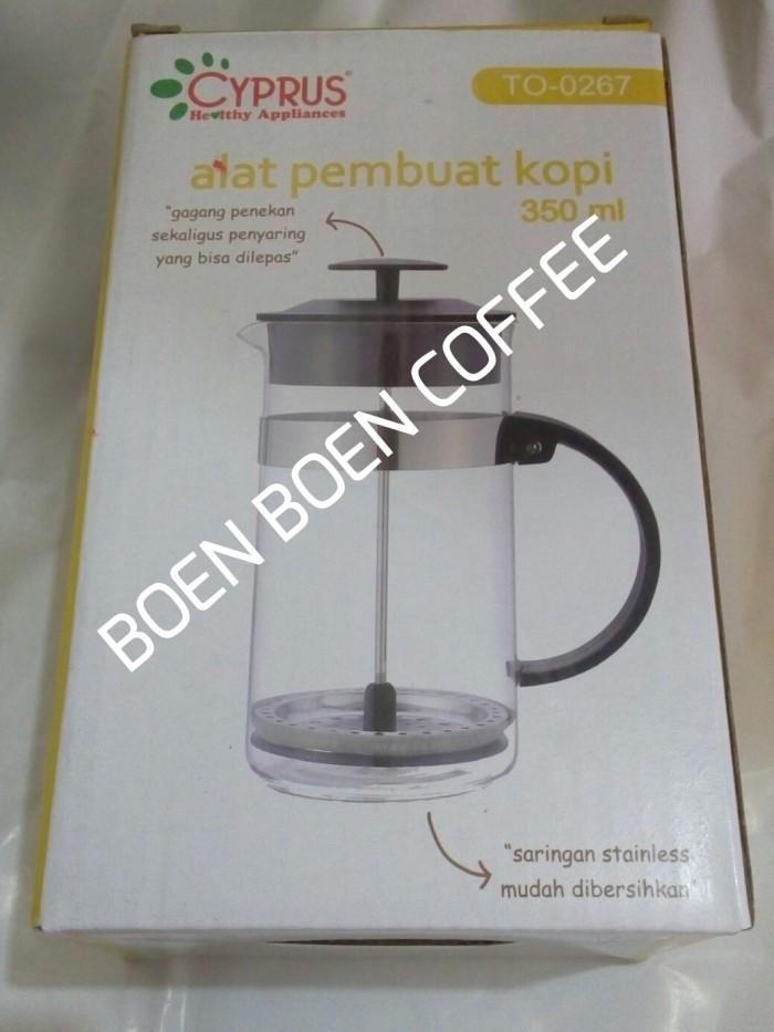 harga French press / coffee plunger 350 ml cyprus Tokopedia.com