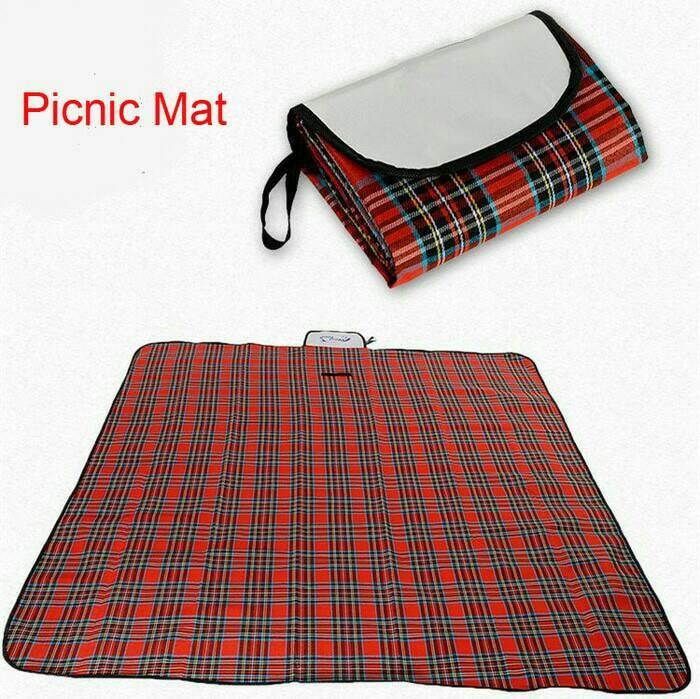 Plastik Lipat Waterproof Karpet Piknik Kemping Tamasya Bermain Rekreasi Arisan Pengajian Umroh Haji .