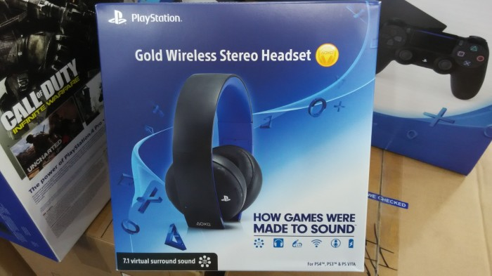 SONY Playstation Gold Wireless Stereo Headset For PS3/PS4/PS Vita