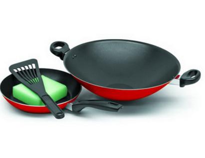 Maxim - 2 set wajan / penggorengan (wok 30 cm + fry pan 22 cm) teflon