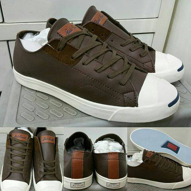harga Sepatu kets sneakers converse all star jack purcell leather low brown Tokopedia.com