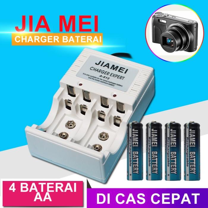 EELIC JM-612X4AA Charger dan 4 pcs Baterai AA Satu Paket